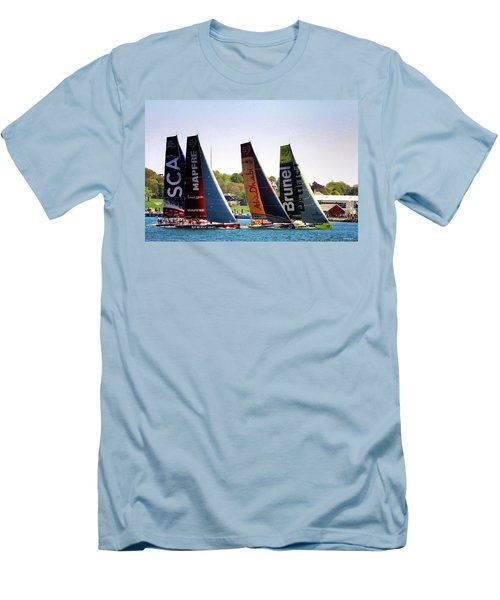 Volvo Ocean Race Newport Ri Men's T-Shirt (Athletic Fit)