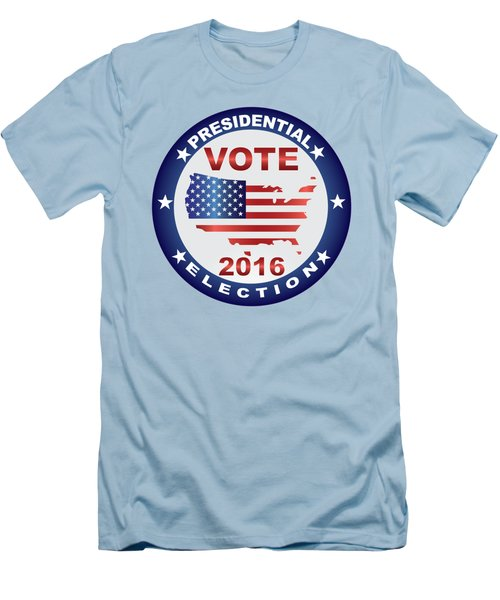 Vote 2016 Usa Presidential Election Button Men's T-Shirt (Athletic Fit)