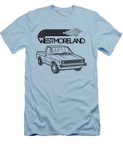 Vw Rabbit Pickup - Westmoreland Theme - Black Men's T-Shirt (Athletic Fit)