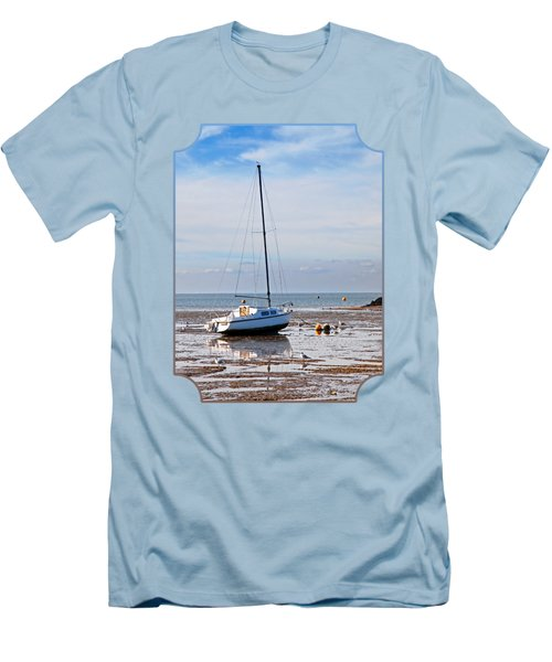 Waiting For High Tide Men's T-Shirt (Slim Fit) by Gill Billington