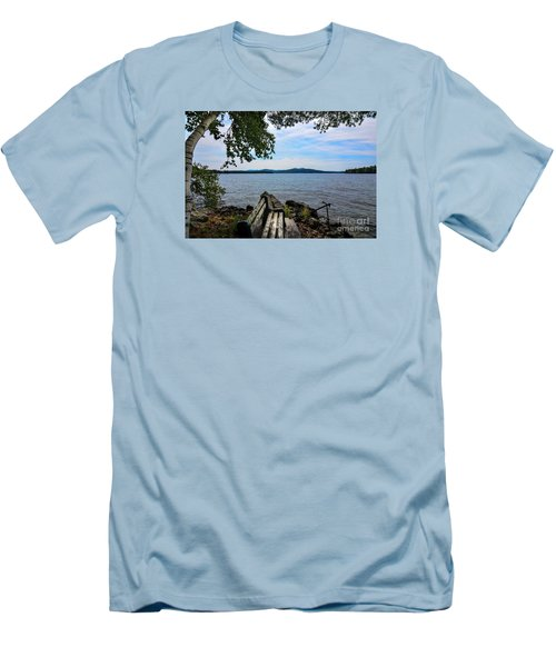 Men's T-Shirt (Slim Fit) featuring the photograph Waiting For Me by Mim White