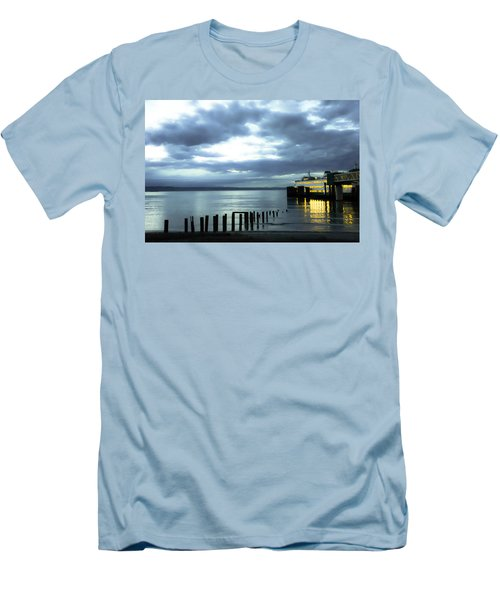 Waiting For The Ferry Men's T-Shirt (Slim Fit) by Ronda Broatch