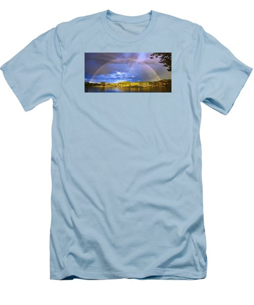 Men's T-Shirt (Slim Fit) featuring the photograph Wake Up Rainbow  by Kadek Susanto