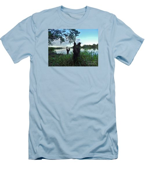 Walk Along The River In Verdun Men's T-Shirt (Slim Fit) by Reb Frost