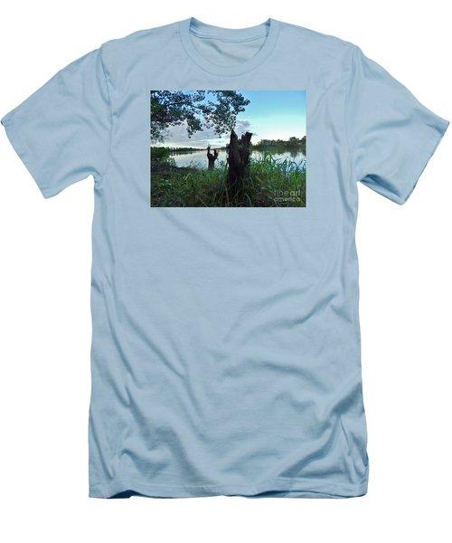 Walk Along The River In Verdun Men's T-Shirt (Athletic Fit)