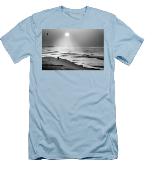 Men's T-Shirt (Slim Fit) featuring the photograph Walk Beneath The Moon by Karen Wiles