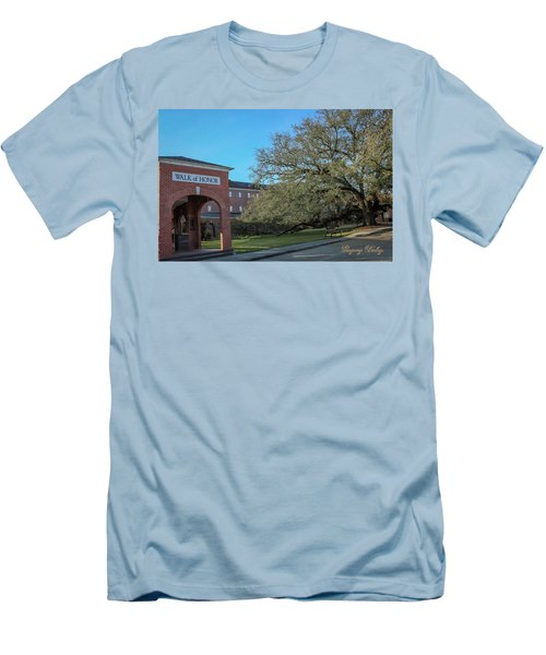 Men's T-Shirt (Slim Fit) featuring the photograph Walk Of Honor Entrance by Gregory Daley  PPSA