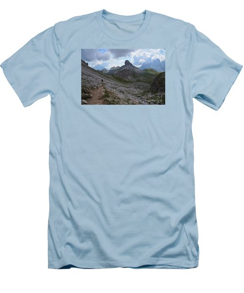 Men's T-Shirt (Slim Fit) featuring the photograph Walk On by Yuri Santin