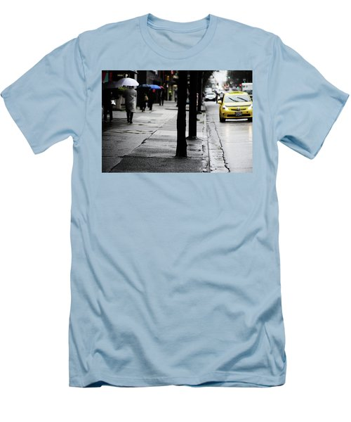 Walk Or Cab Men's T-Shirt (Slim Fit) by Empty Wall