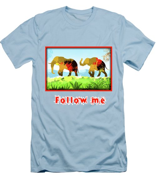 Walk With Me Men's T-Shirt (Slim Fit) by Anthony Mwangi