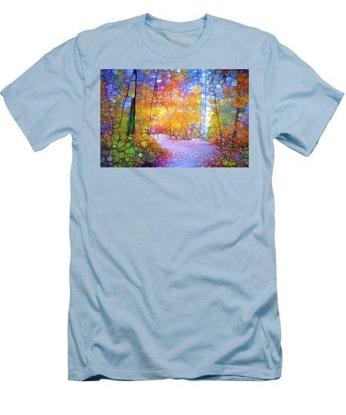 Men's T-Shirt (Slim Fit) featuring the digital art Walk With Me by Tara Turner