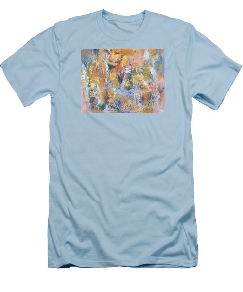 Wall Memories Men's T-Shirt (Slim Fit) by Becky Chappell