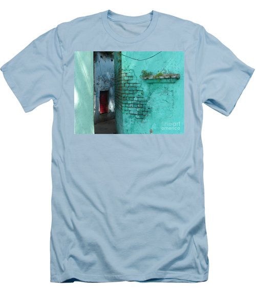 Walls Men's T-Shirt (Slim Fit) by Jean luc Comperat