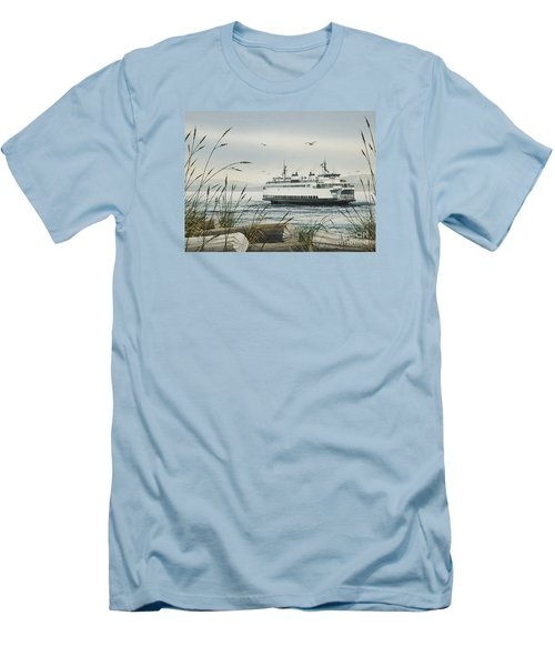 Washington State Ferry Men's T-Shirt (Slim Fit) by James Williamson