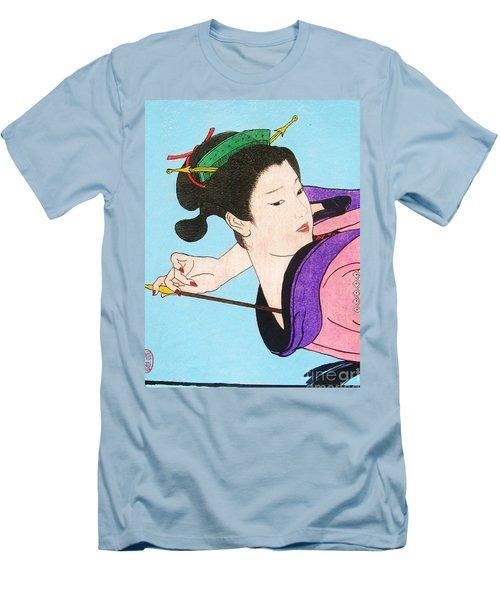 Watashi No Senaka O Kaite Men's T-Shirt (Slim Fit) by Roberto Prusso