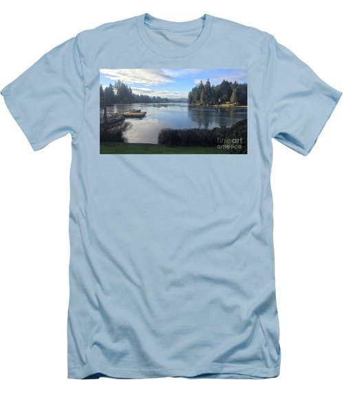 Men's T-Shirt (Slim Fit) featuring the photograph Watching The Ice Melt by Victor K