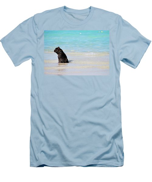Men's T-Shirt (Athletic Fit) featuring the photograph Watching The Waves by Amee Cave