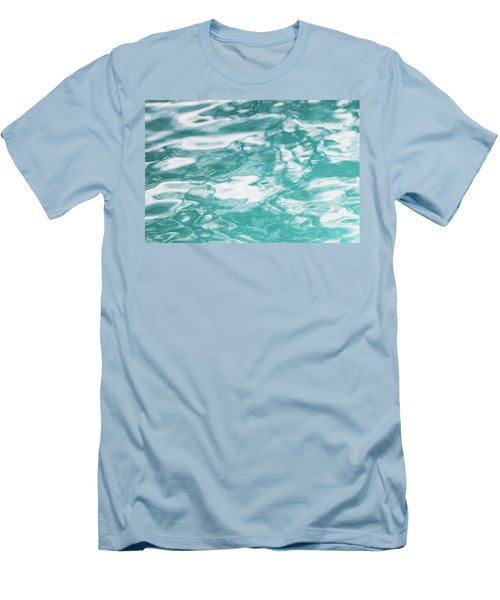 Water Abstract 001 Men's T-Shirt (Slim Fit) by Rich Franco