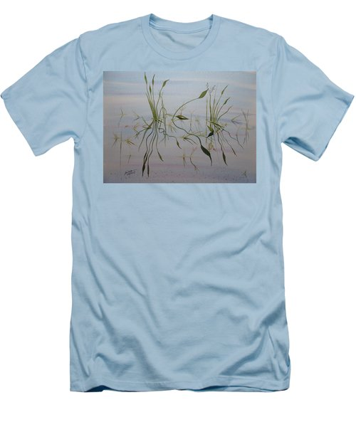 Men's T-Shirt (Athletic Fit) featuring the painting Water Music by Joel Deutsch