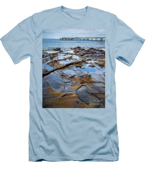 Men's T-Shirt (Slim Fit) featuring the photograph Water Pool by Perry Webster