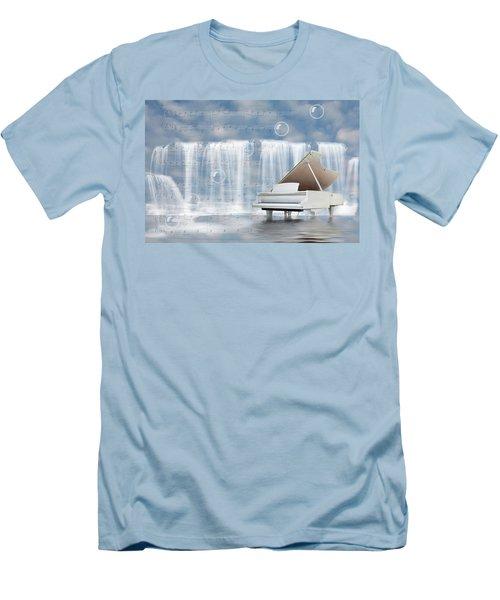 Water Synphony For Piano Men's T-Shirt (Slim Fit) by Angel Jesus De la Fuente