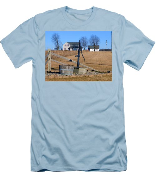 Water Well Men's T-Shirt (Slim Fit) by Tina M Wenger