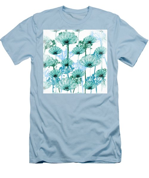 Men's T-Shirt (Slim Fit) featuring the digital art Watercolor Dandelions by Bonnie Bruno
