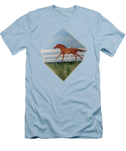 Watercolor Pony Men's T-Shirt (Slim Fit)