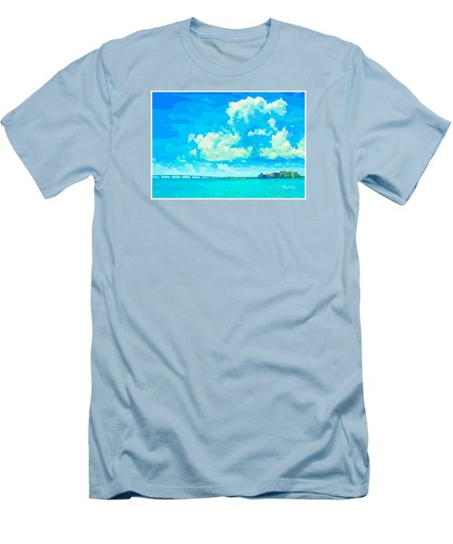 Watercolor Spring On Sarasota Bay Men's T-Shirt (Athletic Fit)