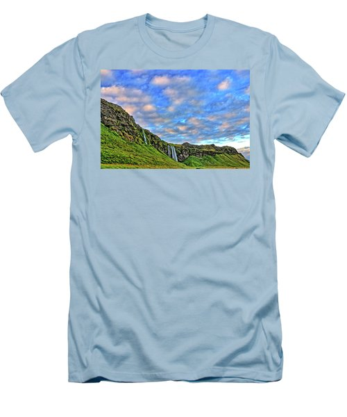 Men's T-Shirt (Slim Fit) featuring the photograph Waterfall Hill by Scott Mahon