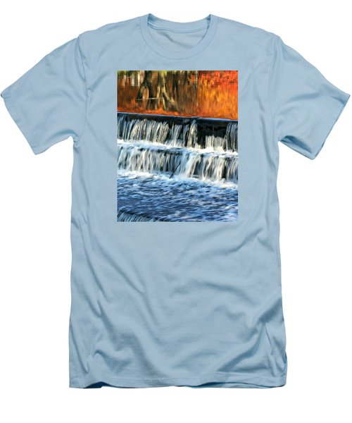 Waterfall In Downtown Waukesha Men's T-Shirt (Athletic Fit)