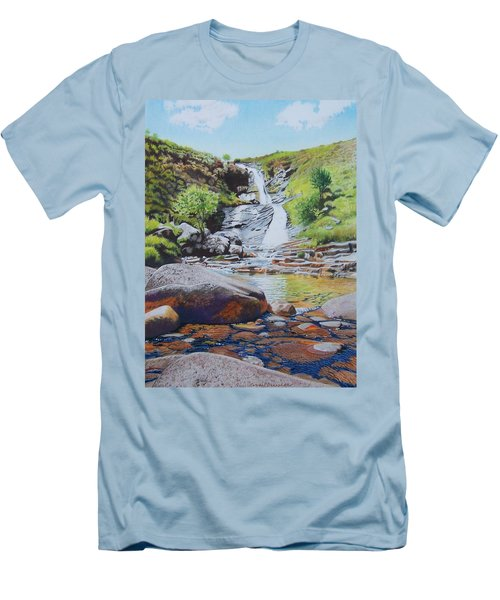 Waterfall On Skye 2 Men's T-Shirt (Athletic Fit)