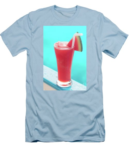 Men's T-Shirt (Slim Fit) featuring the photograph Waterlemon Smoothie by Atiketta Sangasaeng