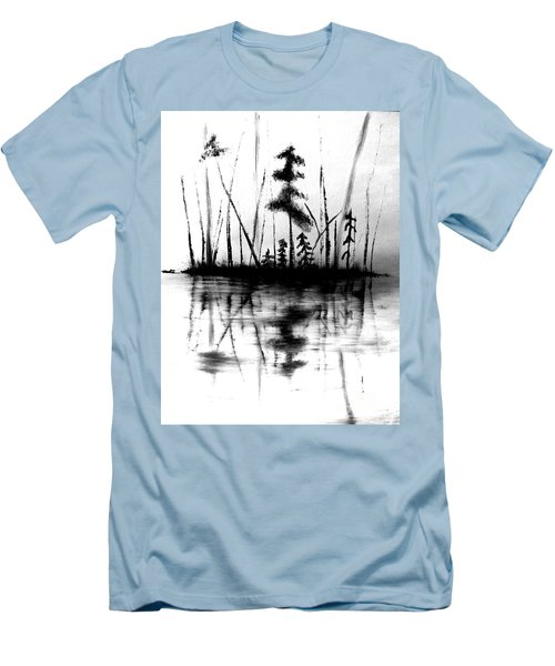 Men's T-Shirt (Athletic Fit) featuring the painting Waters Edge by Denise Tomasura