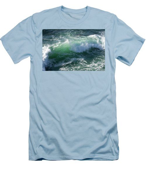 Wave At Montana De Oro Men's T-Shirt (Athletic Fit)