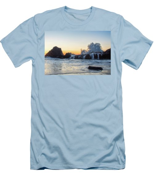 Wave Burst Men's T-Shirt (Athletic Fit)