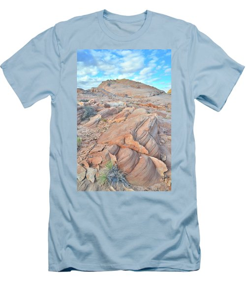 Wave Of Sandstone In Valley Of Fire Men's T-Shirt (Slim Fit) by Ray Mathis