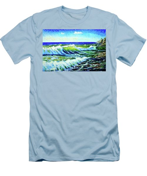 Waves Men's T-Shirt (Slim Fit) by Viktor Lazarev