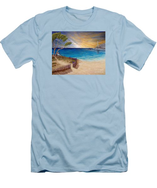 Way To Escape Men's T-Shirt (Slim Fit) by Kimberlee Baxter