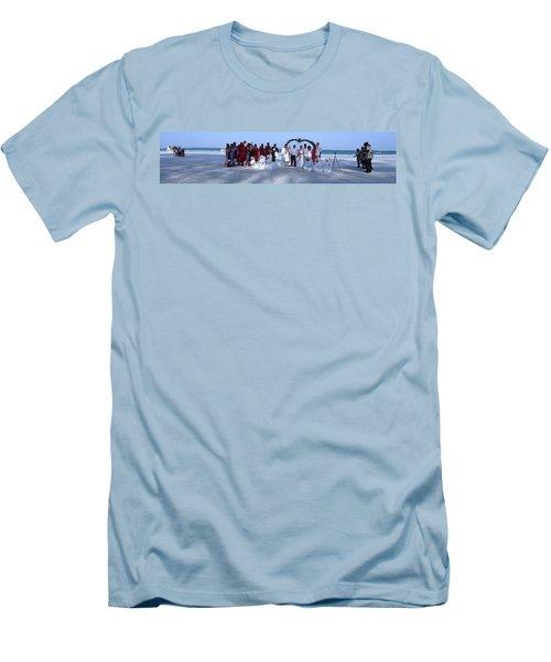 Wedding Complete Panoramic Kenya Beach Men's T-Shirt (Slim Fit) by Exploramum Exploramum