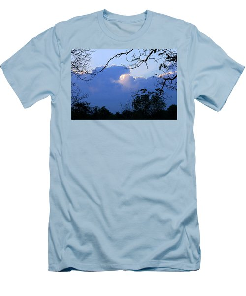 Men's T-Shirt (Athletic Fit) featuring the photograph Welcoming Light by Hanne Lore Koehler