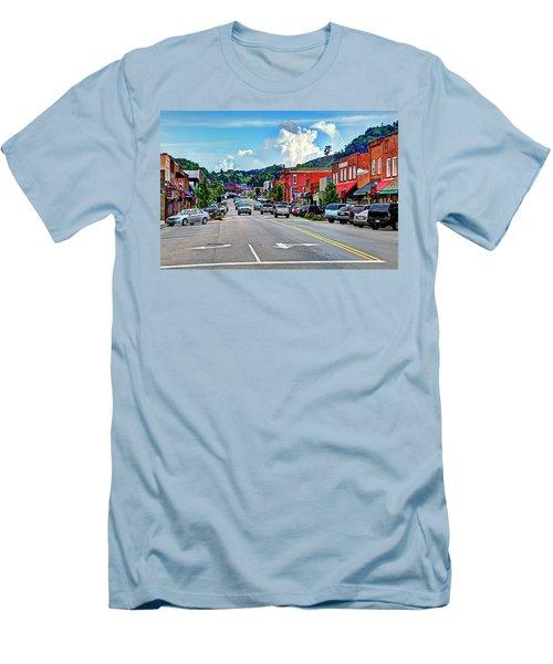 West Jefferson Streetscape Men's T-Shirt (Slim Fit) by Dale R Carlson
