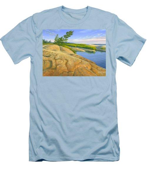 Wind Swept Men's T-Shirt (Slim Fit) by Michael Swanson