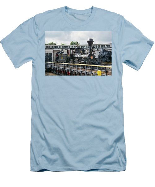 Western And Atlantic 4-4-0 Steam Locomotive Men's T-Shirt (Slim Fit) by John Black