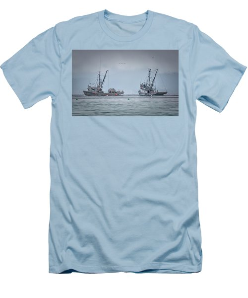 Western Gambler And Marinet Men's T-Shirt (Slim Fit) by Randy Hall