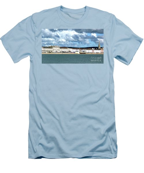 Weymouth Seafront Men's T-Shirt (Slim Fit) by Stephen Melia