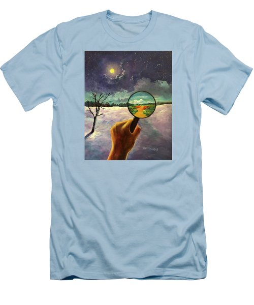What We Choose To See Men's T-Shirt (Slim Fit) by Randy Burns