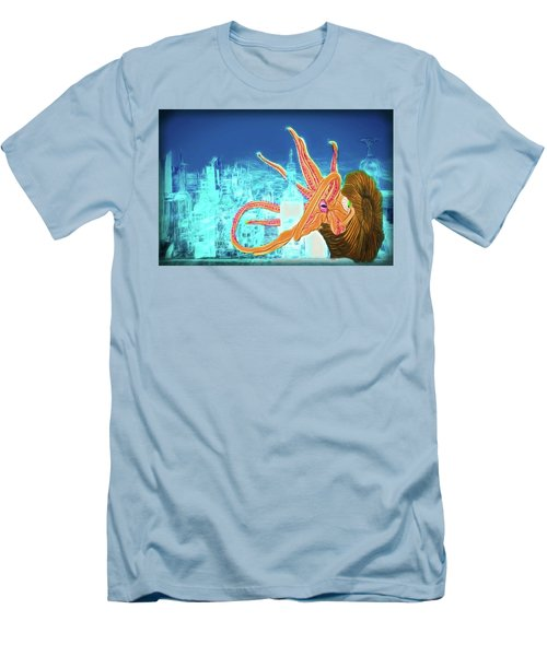 Men's T-Shirt (Athletic Fit) featuring the drawing What Will You Have by John Haldane