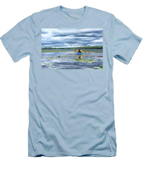 Where We Belong Men's T-Shirt (Slim Fit) by Pamela Williams