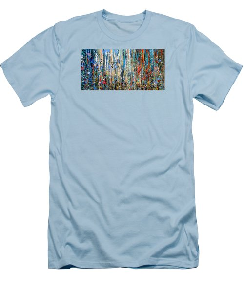 Where Wild Roses Bloom - Large Work Men's T-Shirt (Athletic Fit)